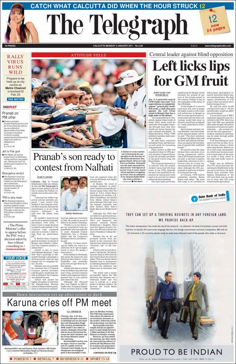 The Telegraph India Newspapers The Telegraph India The
