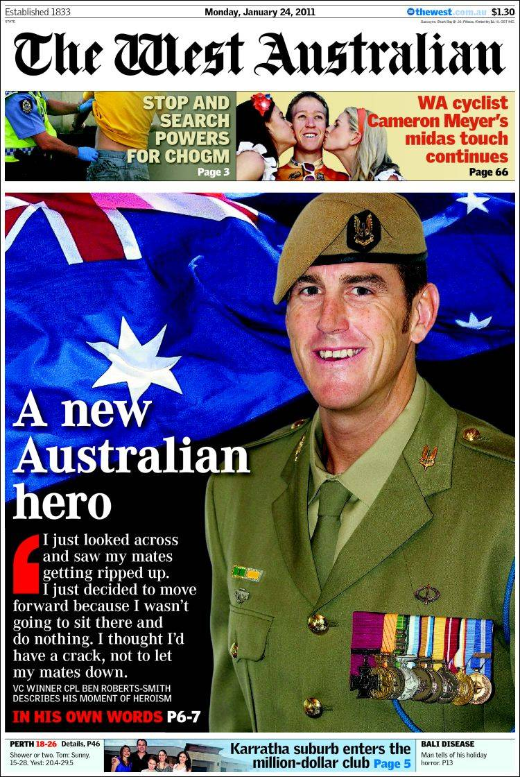 newspaper the west australian  australia   front pages from newspapers in australia  monday u0026 39 s