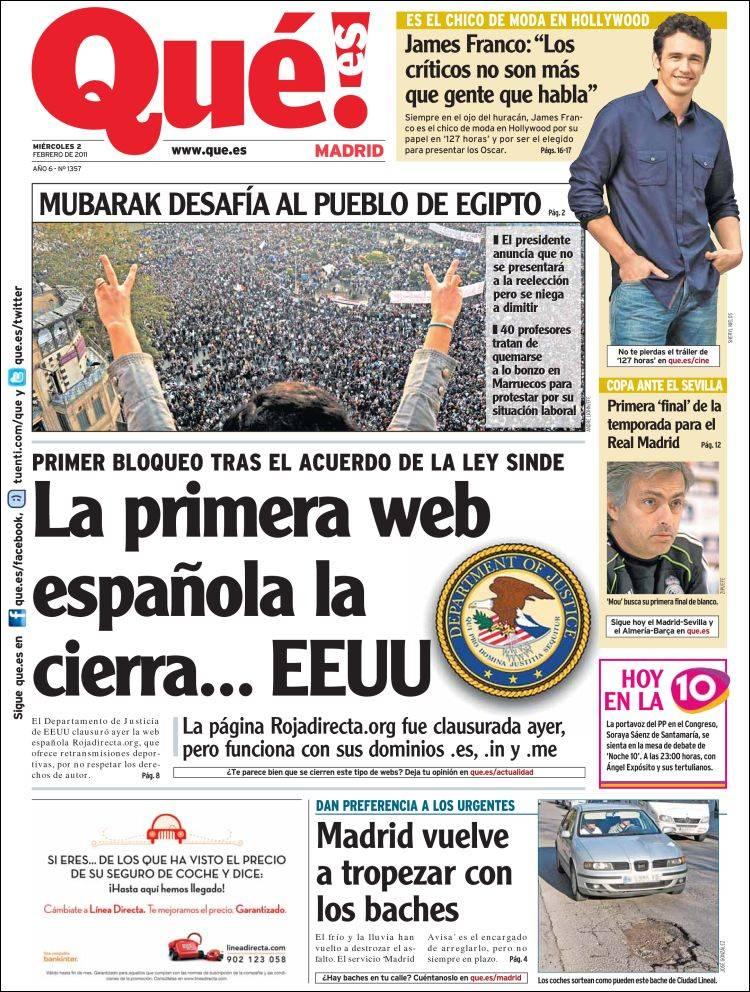 Portada de Qué - Madrid (España)
