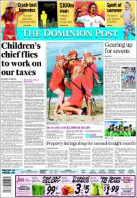 Portada de The Dominion Post (Nueva Zelanda)