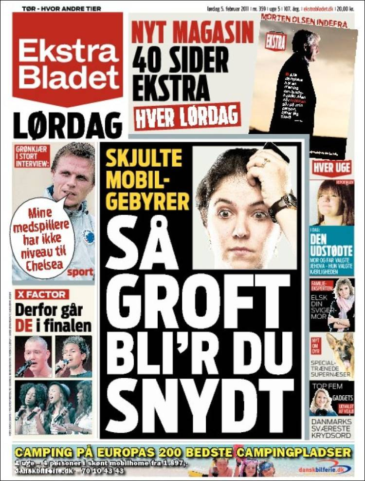 Newspaper Ekstra Bladet Denmark Front Pages From Newspapers In