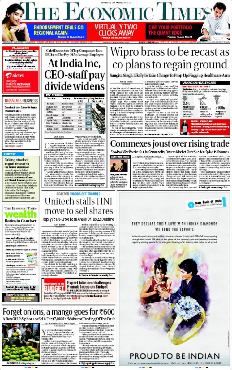 Economic Times Epaper | Today's English Daily | Economic ...