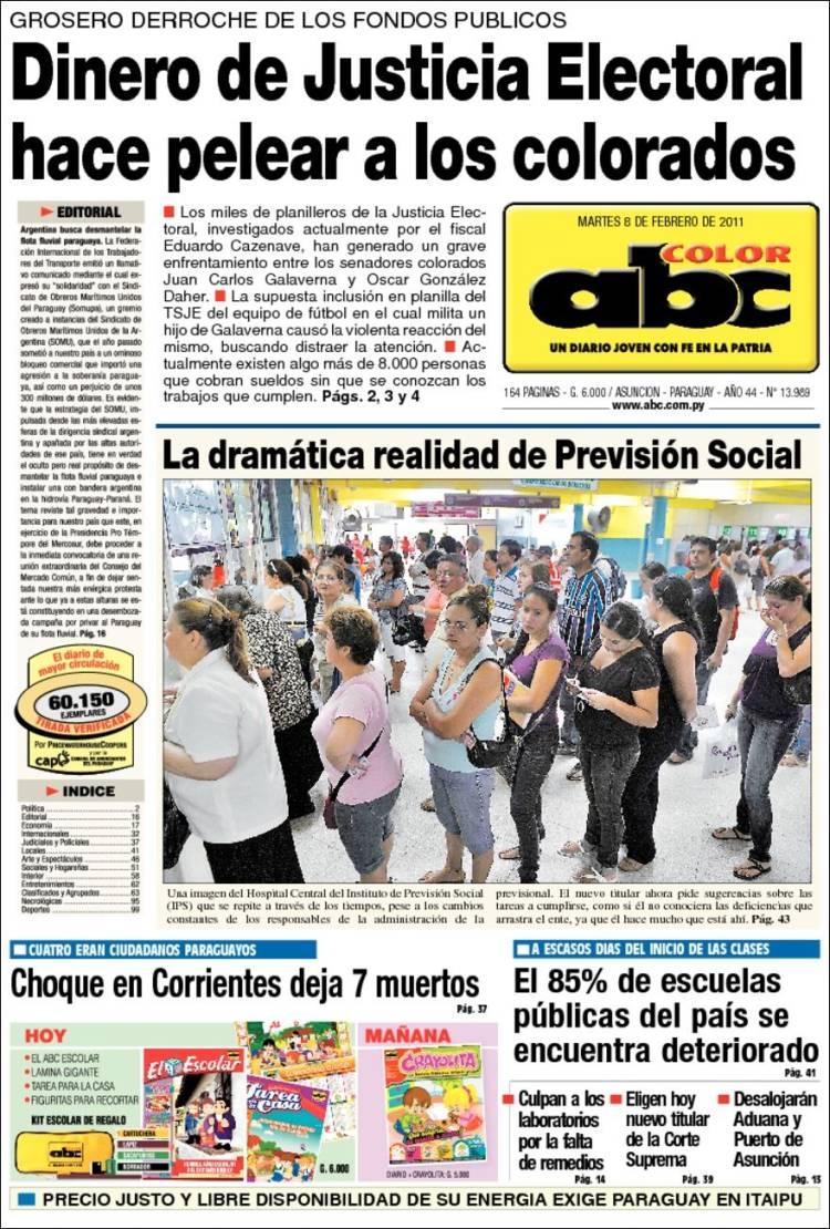 diario abc color de paraguay: