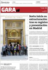 Portada de Gara (Spain)