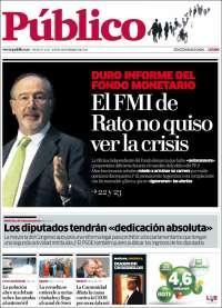 Portada de Público (Spain)