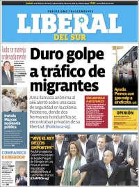 Portada de El Liberal del Sur (Mexico)