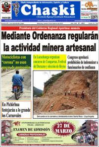 Portada de Diario Chaski (Peru)