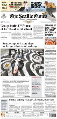 Portada de Seattle Times (USA)