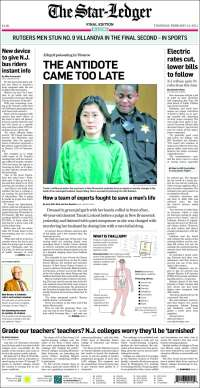Portada de Star-Ledger (USA)