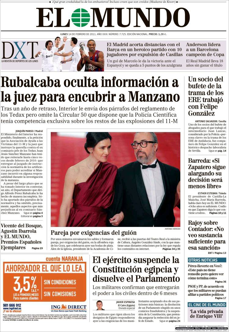 Coding: Arab Spring in Spanish newspapers - PageOneX