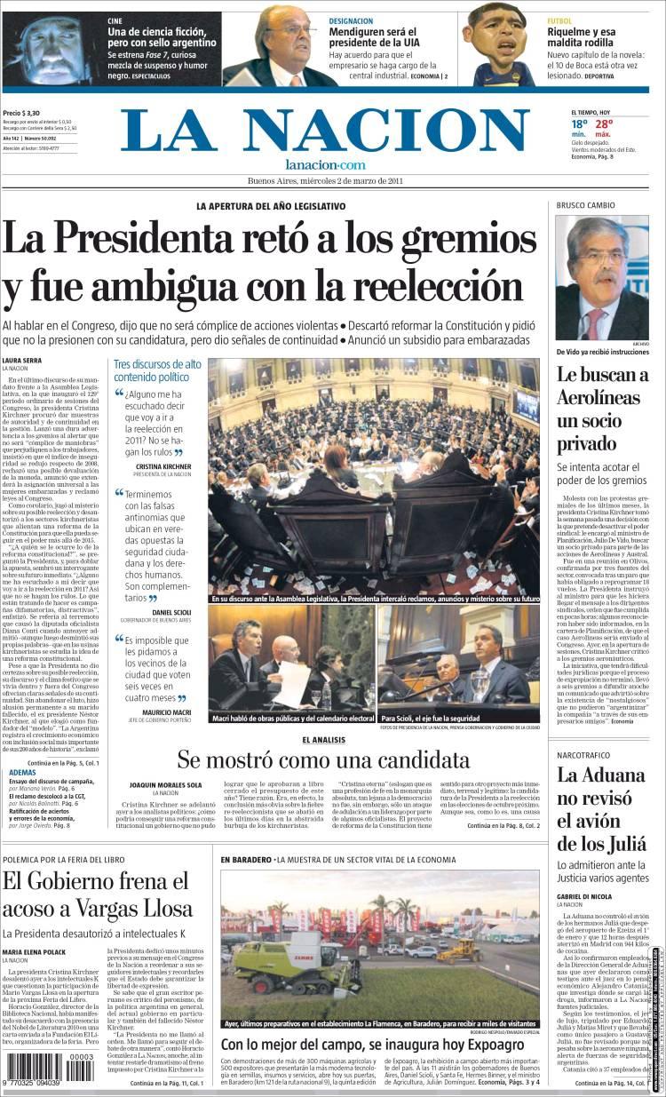 la nacion periodico argentina hd 1080p 4k foto