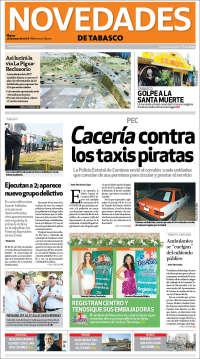 Portada de Novedades de Tabasco (México)