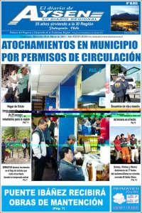 Portada de El Diario de Aysén (Chile)