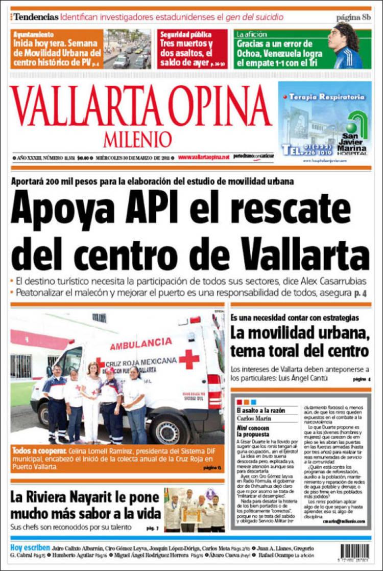 Portada de Vallarta Opina (México)