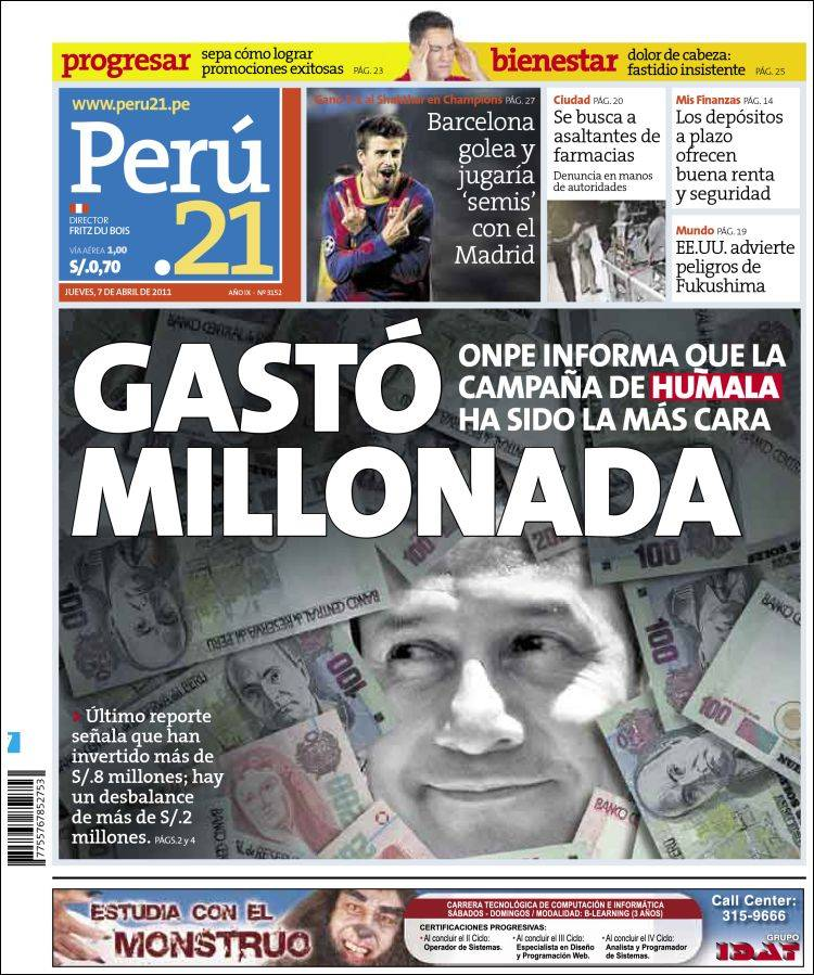 Peri dico per 21 per peri dicos de per edici n de Noticias del dia de hoy en argentina espectaculos