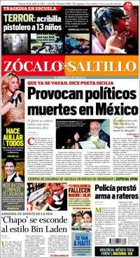 Portada de Zócalo de Saltillo (Mexico)