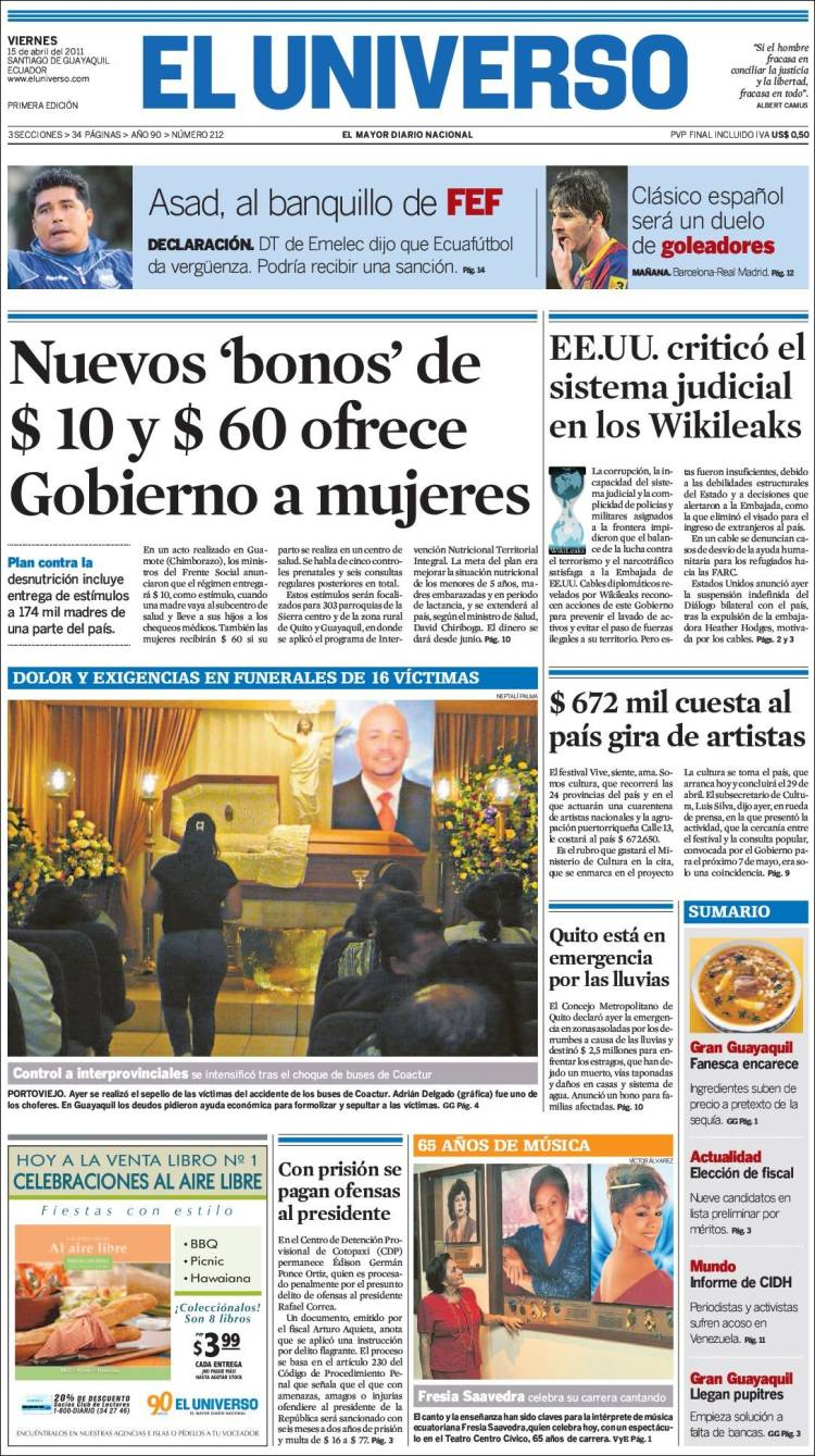 ultimas noticia de cuenca ecuador: