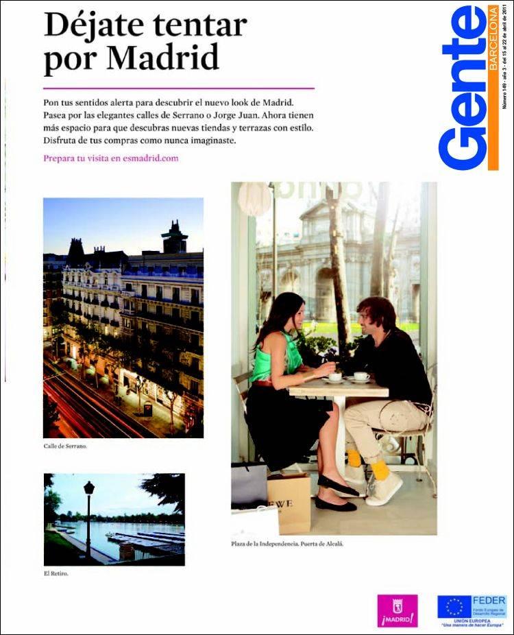 Periódico Gente En Barcelona España Periódicos De España