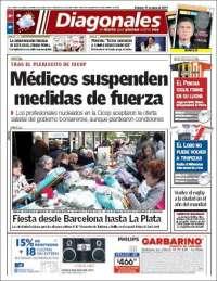 Portada de Diario Diagonales (Argentina)