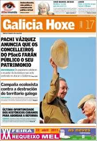 Portada de Galicia Hoxe (España)
