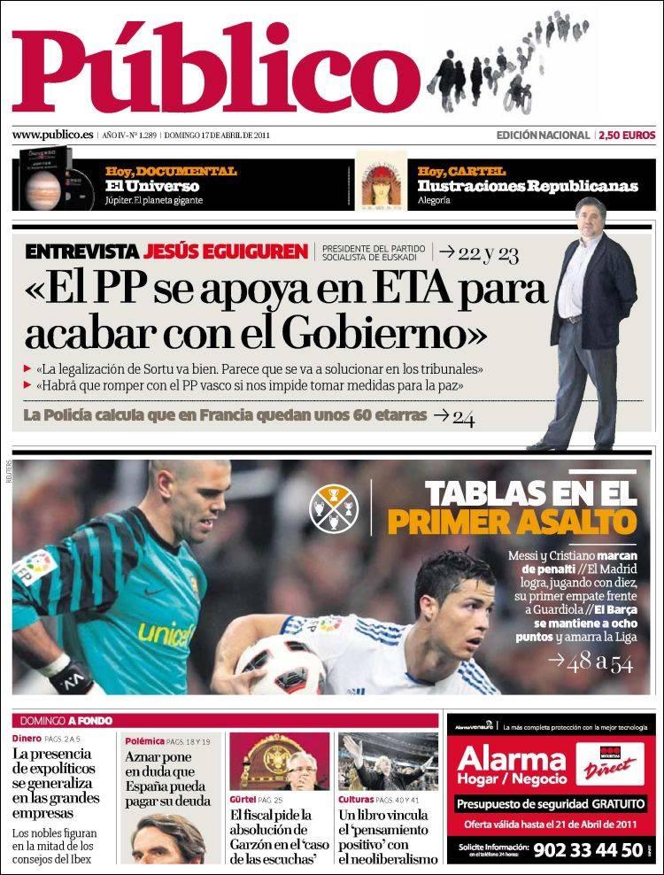 Portada de Público (España)