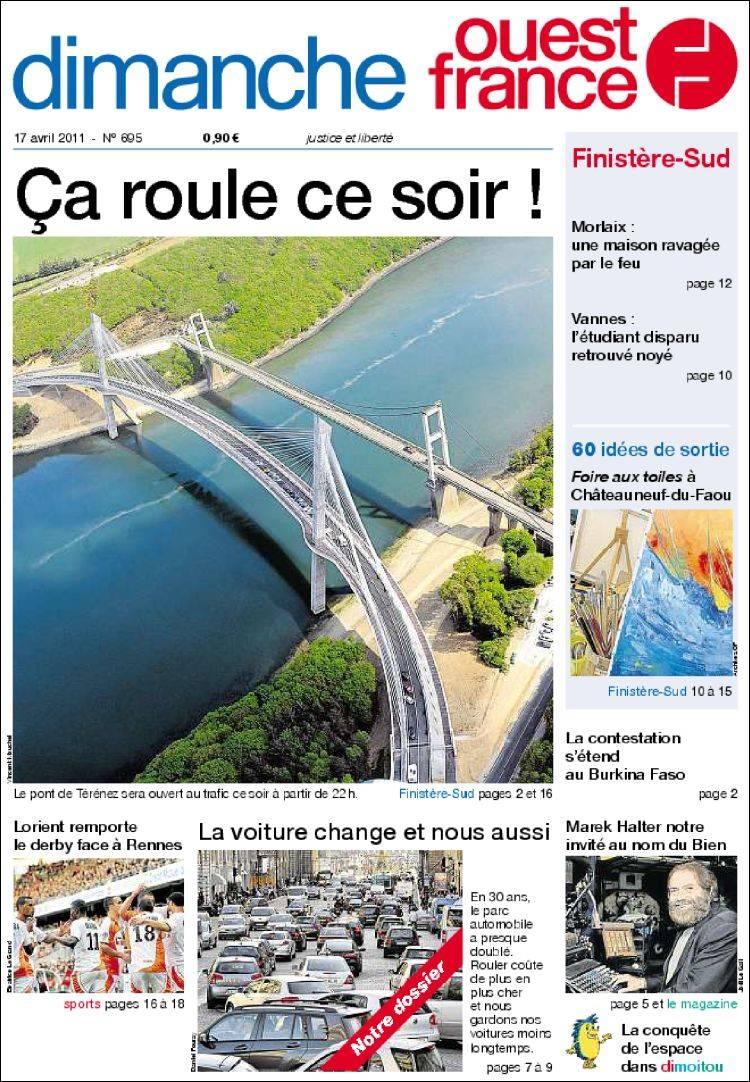 Portada de Ouest France (Francia)