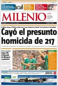 Portada de Milenio de León (México)