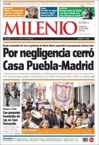 Portada de Milenio de Puebla (México)