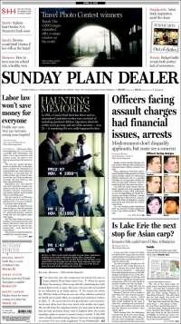 Portada de The Plain Dealer (USA)