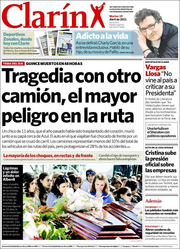peri dico clar n argentina peri dicos de argentina On noticias dela farandula argentina del dia de hoy