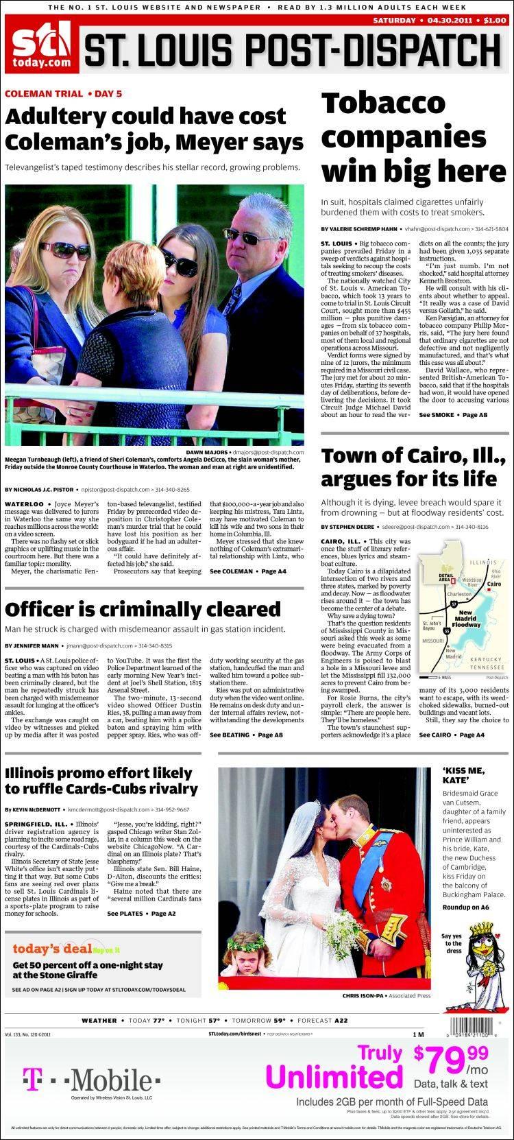 St Louis Post-Dispatch Newspaper Archives