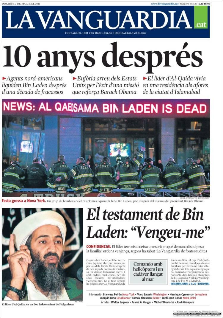 Newspaper la vanguardia catal spain newspapers in - Portada de la vanguardia ...