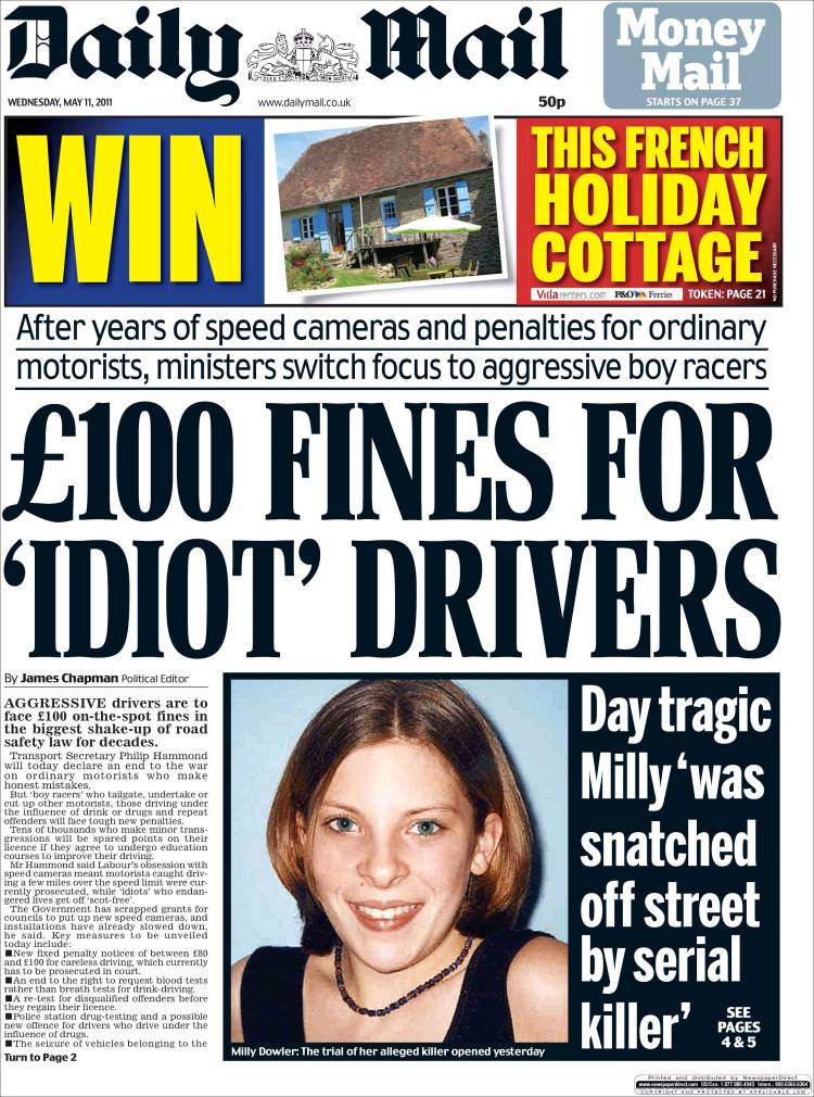 Newspaper Daily Mail (United Kingdom). Newspapers in ... Daily Mail