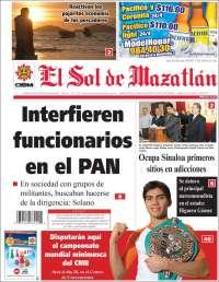 Portada de El Sol de Mazatlán (Mexico)