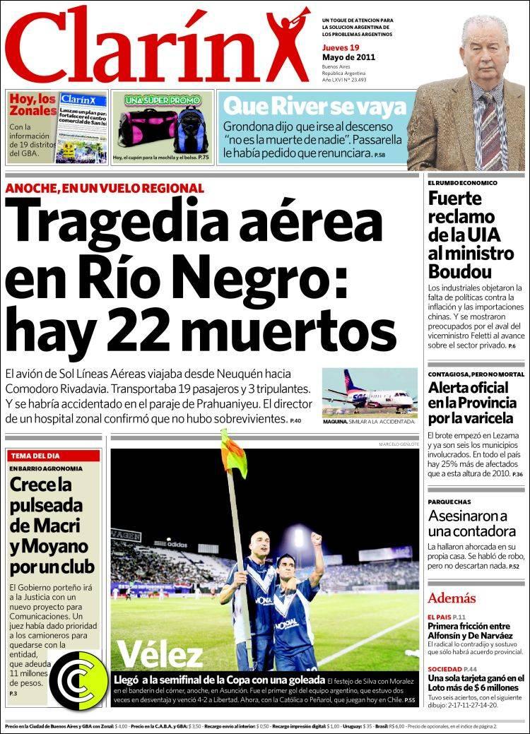 Clarin vuelva a ocultarnos otra cara de la realidad taringa for Noticias dela farandula argentina