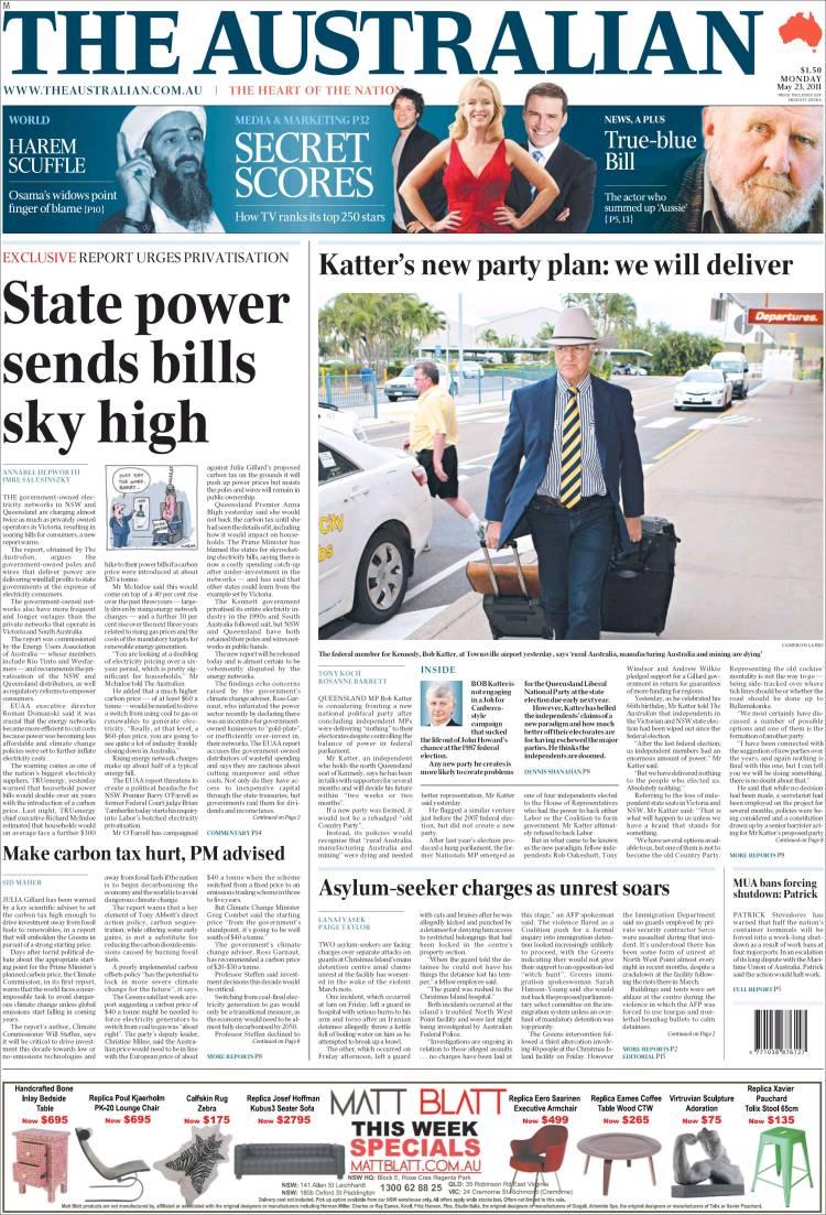 newspaper the australian  australia   newspapers in australia  monday u0026 39 s edition  may 23 of 2011