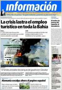 Portada de Información - Bahia de Cadiz (España)