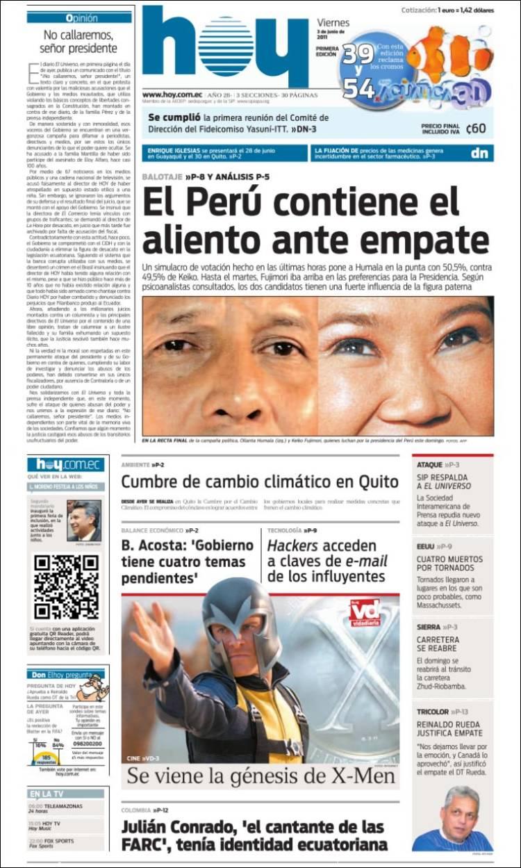 Peri dico diario hoy ecuador peri dicos de ecuador Noticias del dia de hoy en argentina espectaculos