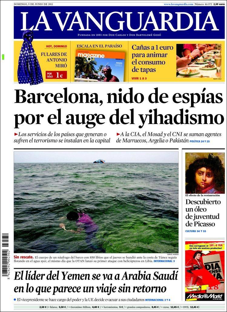 Peri dico la vanguardia espa a peri dicos de espa a Noticias del dia de hoy en argentina espectaculos
