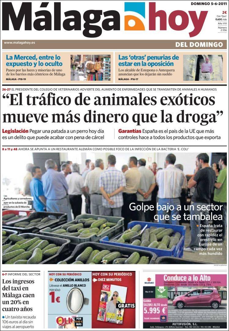 peri dico m laga hoy espa a peri dicos de espa a On noticias dela farandula argentina del dia de hoy