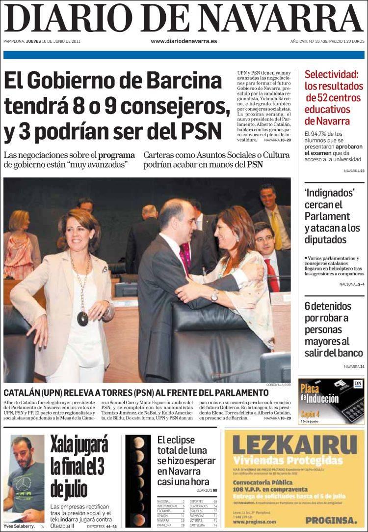 Peri dico diario de navarra espa a peri dicos de espa a Noticias del dia de hoy en argentina espectaculos