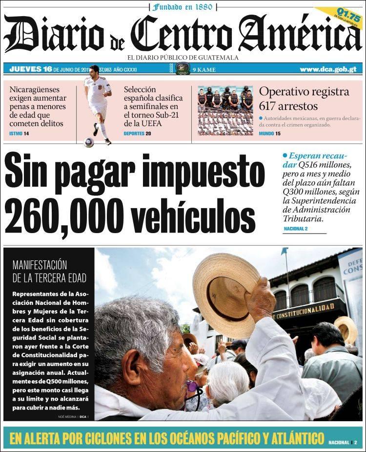 Portada de Diario de Centro América (Guatemala)