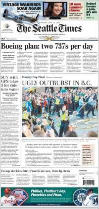Portada de Seattle Times (USA)