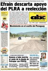 Portada de ABC Color (Paraguay)