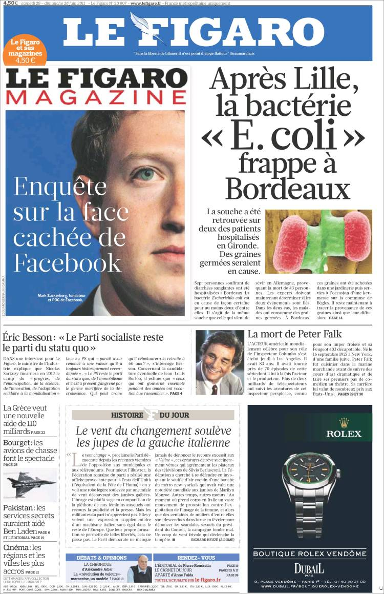 how to say newspaper in french