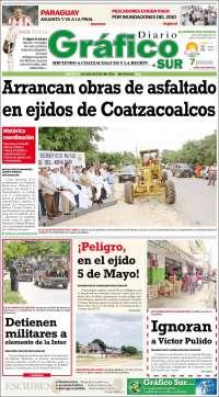 Portada de Gráfico Sur (México)