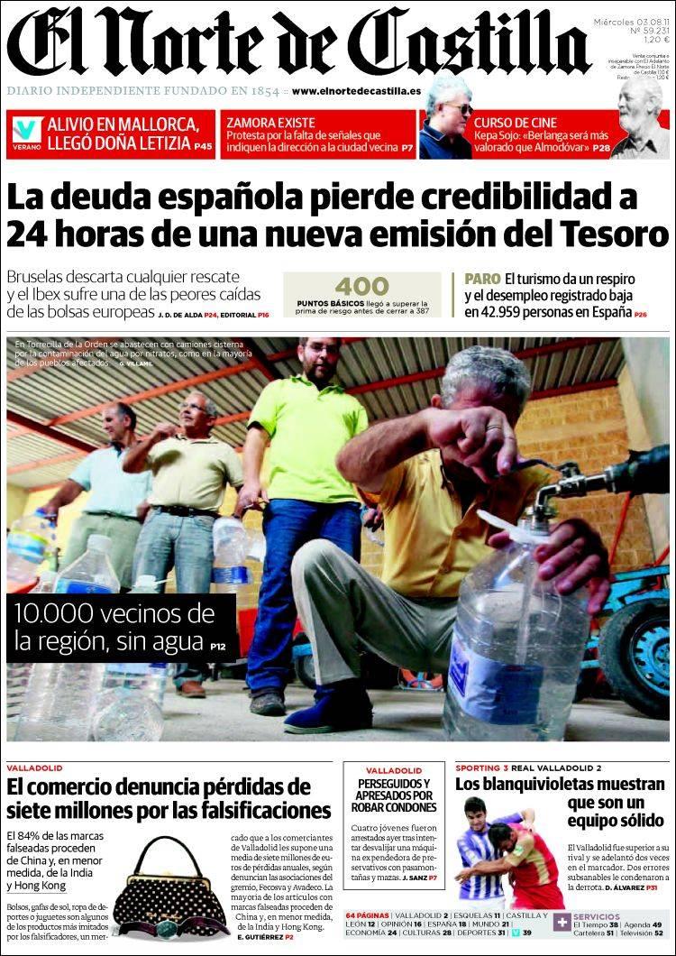 0e01002770 Periódico Norte de Castilla - Zamora (España). Periódicos de España ...