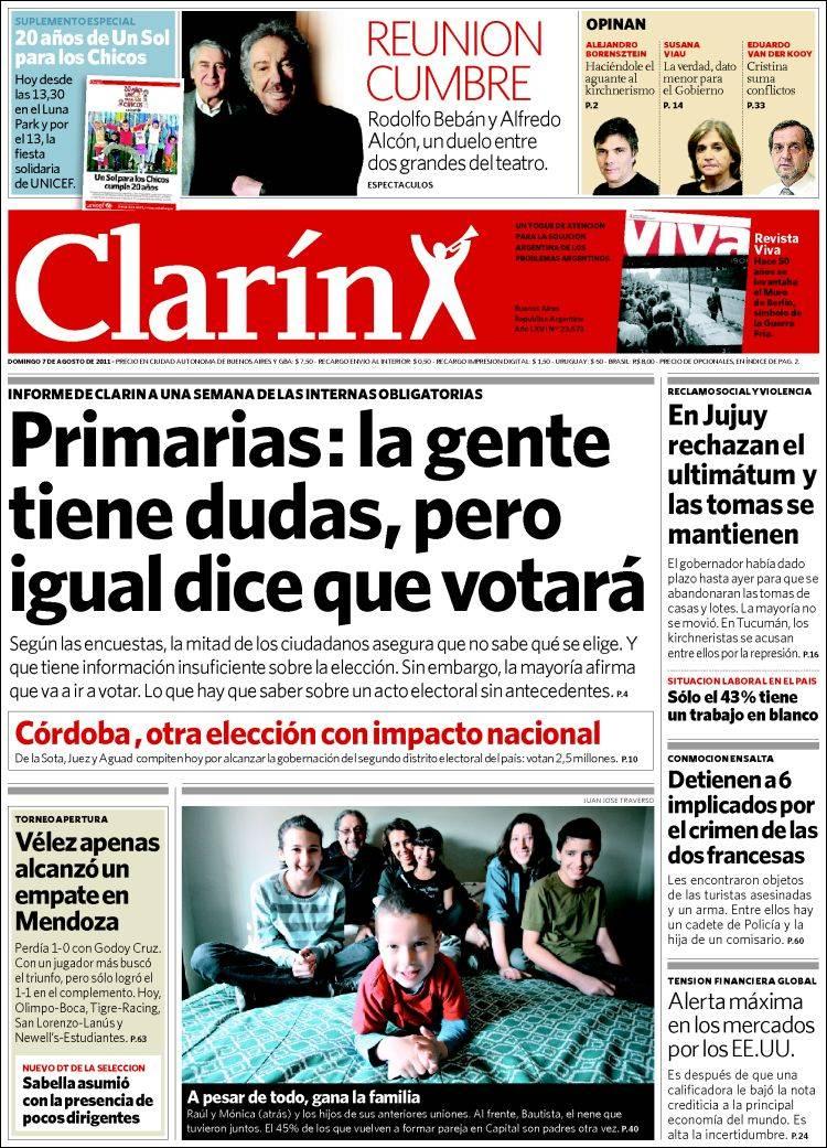 Lm leandro mazza tapas de los diarios de hoy for Chimentos de hoy en argentina
