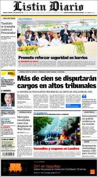 Portada de Listín Diario (R. Dominicana)