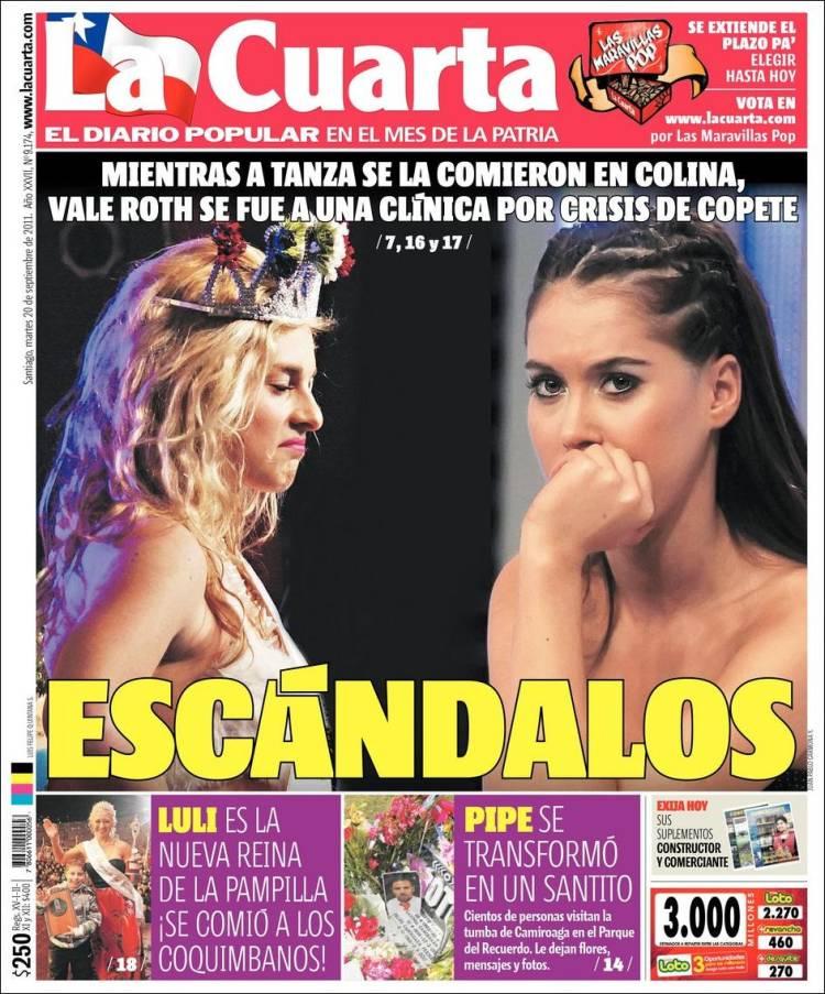 La Cuarta De Chile | Periodico La Cuarta Chile Periodicos De Chile Edicion De